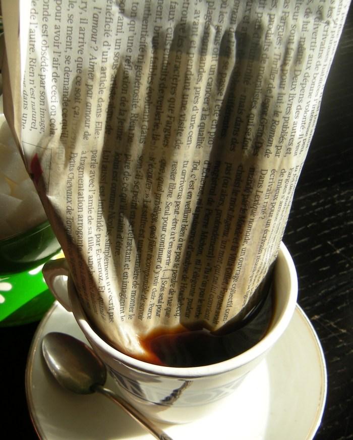 Canard dans le café. PMoritz/Artwithoutskin.
