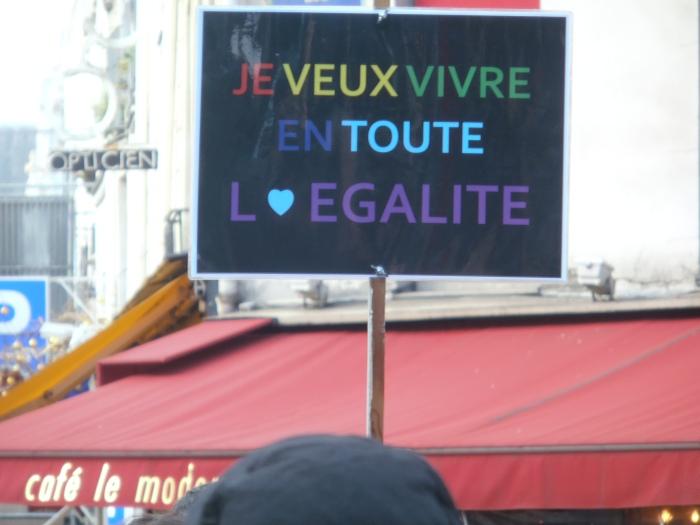 Manifestation pour l'égalité / mariage pour tous. 16 décembre 2012. ArtWiithoutSkin.com