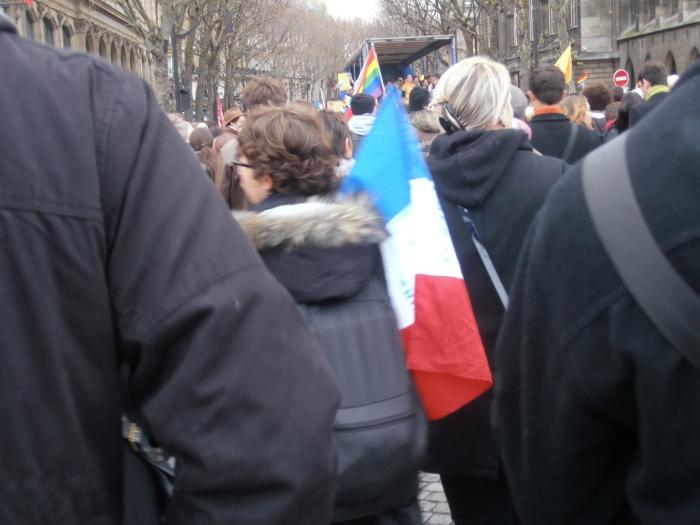 Manifestation pour l'égalité / mariage pour tous. Paris 16 décembre 2012. ArtWithoutskin.com