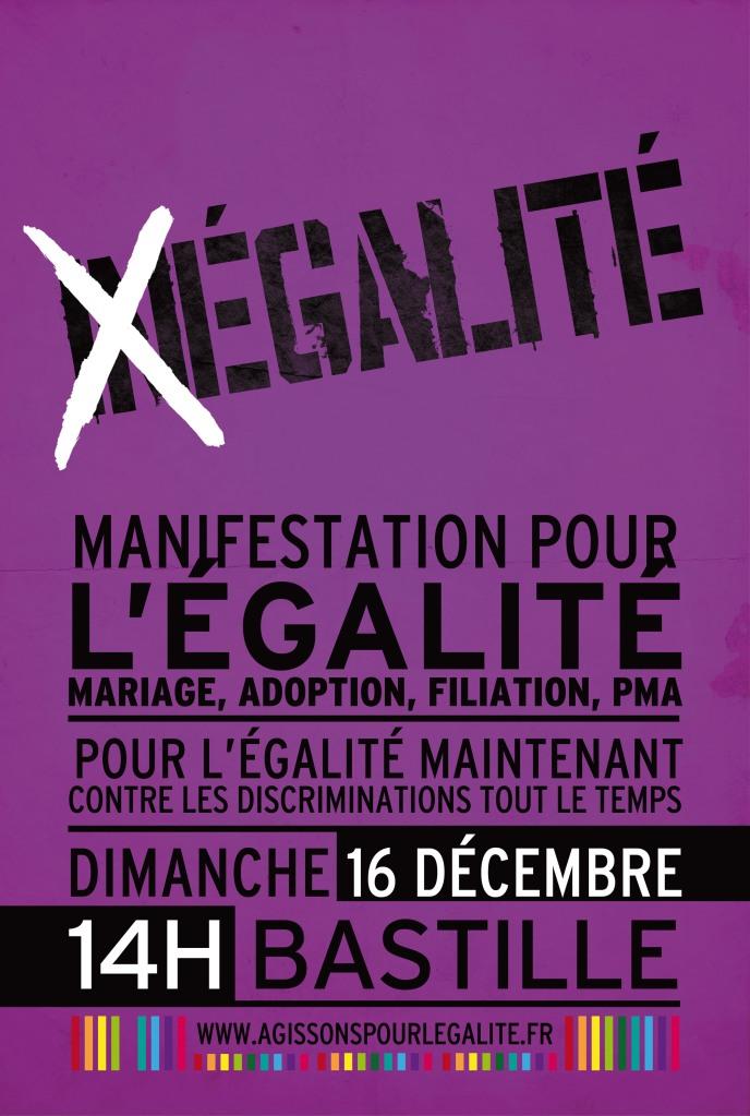 16 décembre manifestation pour l'égalité des droits civils