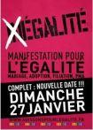 Mariage pour tous manifestation égalité du 27 janvier