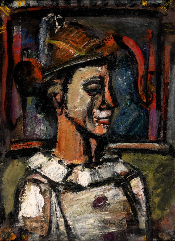 CLOWN DE PROFIL, GEORGES ROUAULT, COLLECTION WOLF - ©ARTCURIAL