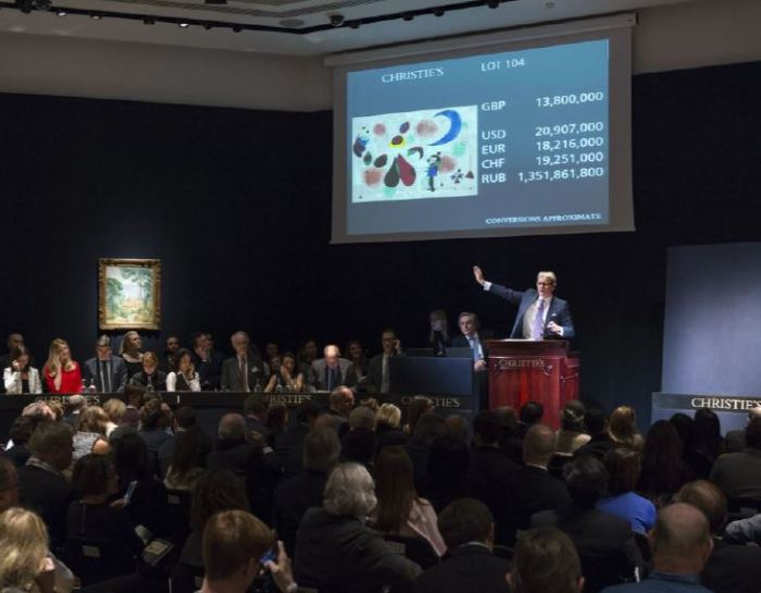 Christie's, vente Miro, février 2015