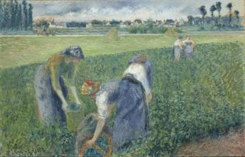 LOT 15 - Camille Pissarro - Paysannes travaillant dans les champs, Pontoise - €1.381.500