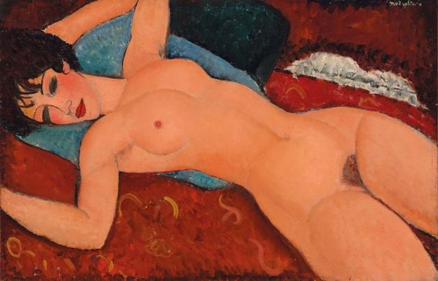 Amedeo Modigliani 'Nu couché (Reclining Nude)' (1)