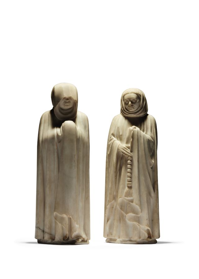 pleurant 1 Two marble figures depicting Mourners - €4.500.000-5.500.000 (1... [3198302]