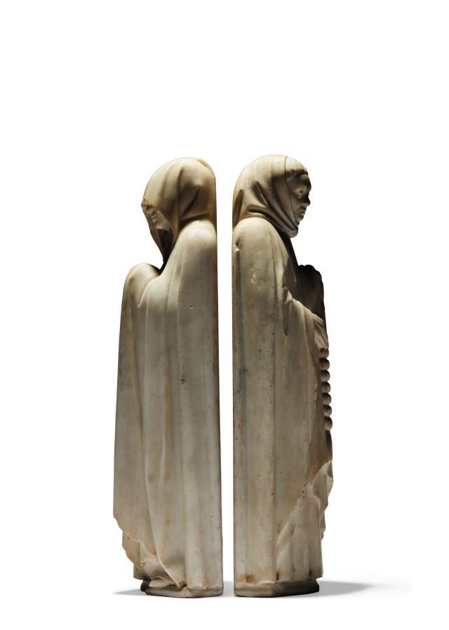 Pleurants 2 Two marble figures depicting Mourners - €4.500.000-5.500.000 (2... [3198303]