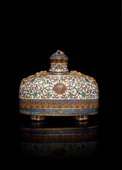 Cloisonné chinois, Qing